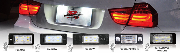 LED License Plate Lamp UN ECE ER R4 Proved