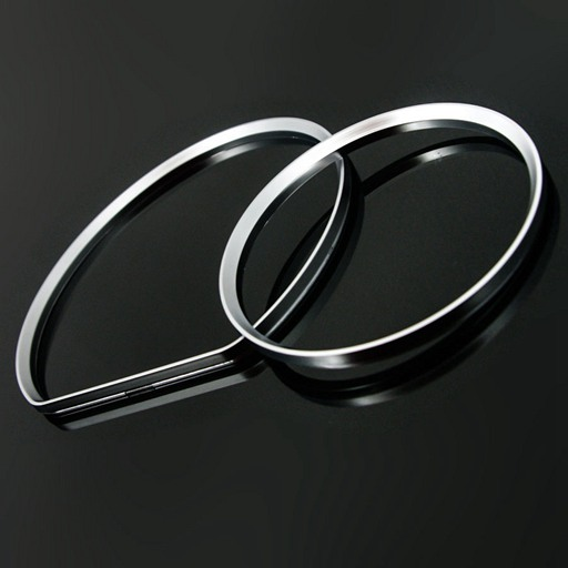 BENZ W210 '00 UP Dash Ring-Silver