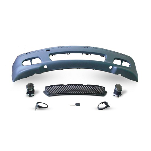 M-Tech Front Bumper With Mesh, Trailer Cover, Fog Lamp For BMW E46 4D