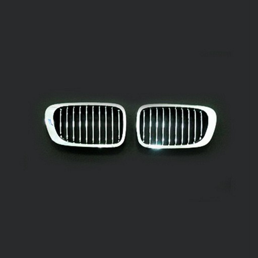 BMW E46 2D 99-03 Chrome Black Front Grille