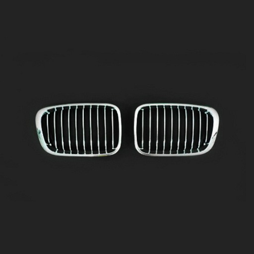 BMW E46 4D 98-01 Chrome Silver Front Grille