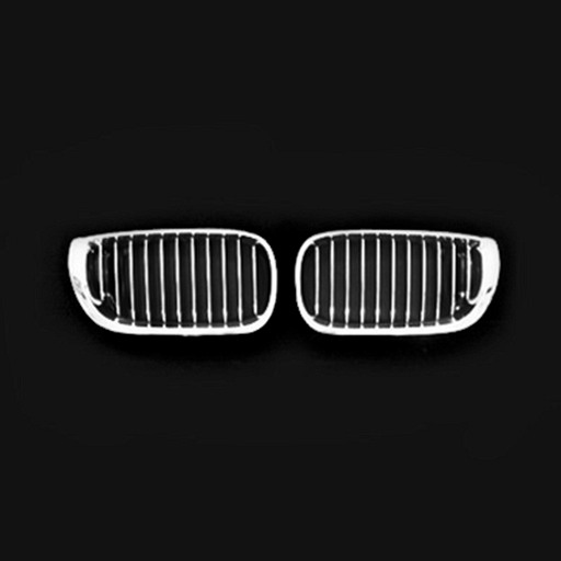 BMW E46 4D 02-05 Chrome Silver Front Grille