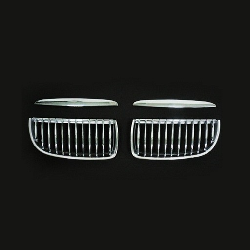 BMW E90 E91 05-ON Chrome Silver Front Grille