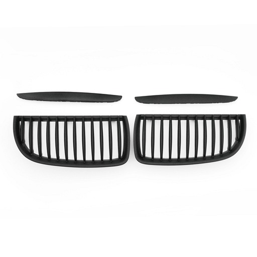 BMW E90 05-07 Matte Black Front Grille With Cover