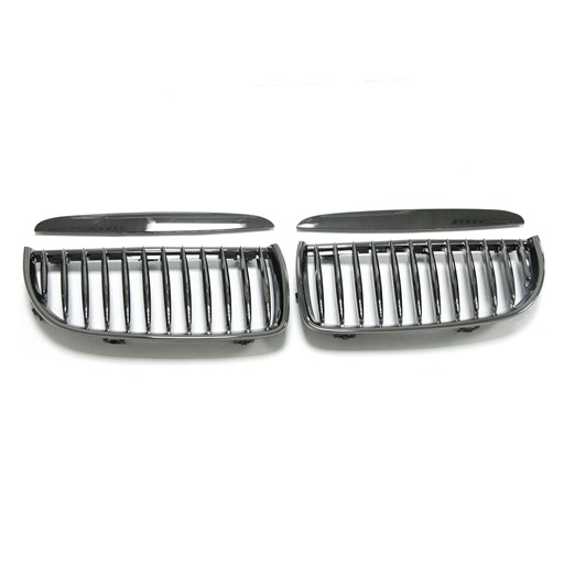 BMW E90 05-07 Black Chrome Front Grille With Cover