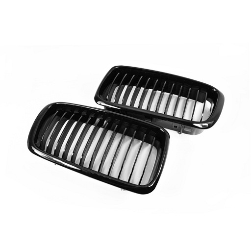 BMW E38 99-02 Shiny Black Front Grille