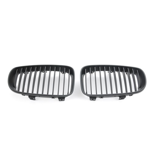 BMW E81 E82 E87 E88 Facelifted Matte Black Front Grille