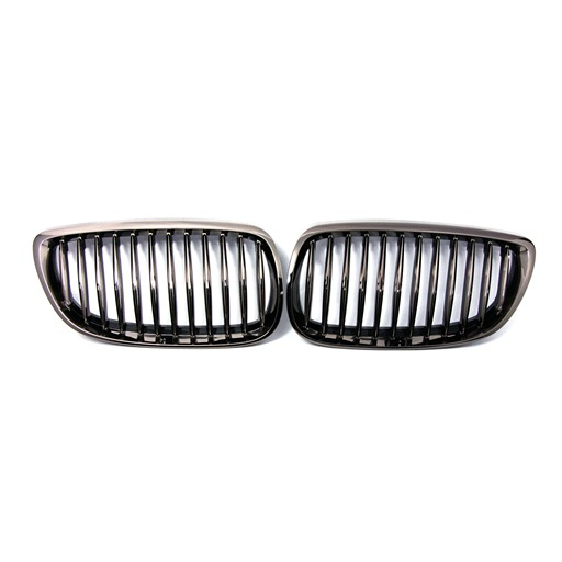BMW E92 E93 07-09 Black Chrome Front Grille