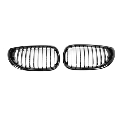 BMW E60 E61 03-09 Shiny Black Front Grille