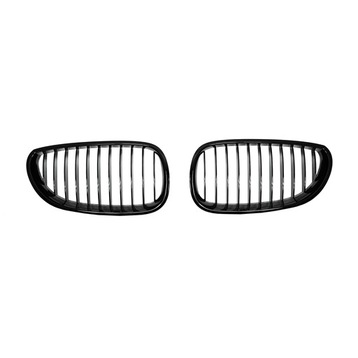 BMW E60 02~10 OEM Style Shiny Black Front Grille