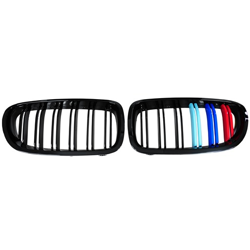Front Grille For BMW F10 F11 M5 Style with M Logo Colors Matte Black