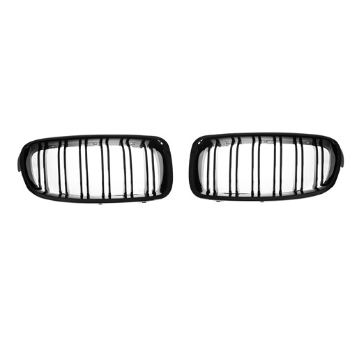 M3-Style Double Slats+Shiny Black Front Grille for BMW F30/F31/F35 (PreLCI、LCI)