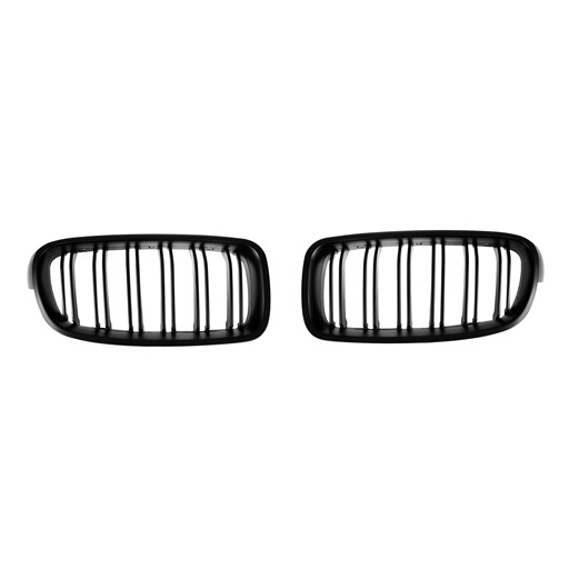 M3-Style Double Slats+Matte Black Front Grille for BMW F30/F31/F35 (PreLCI、LCI)