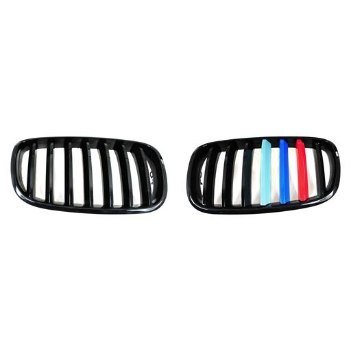 Front Grille For BMW X5 X6 E70 E71 E72 with M Logo Colors Matte Black