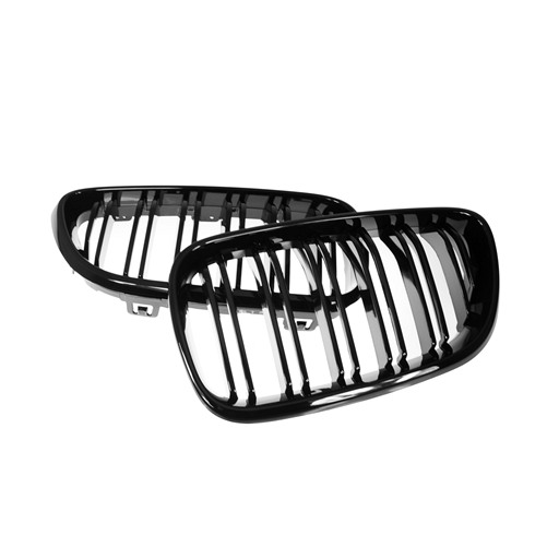 BMW F22 M2 Look Shiny Black Front Grille