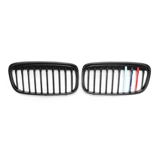 BMW F45 OE Style With M Logo Colors Matte Black Front Grille