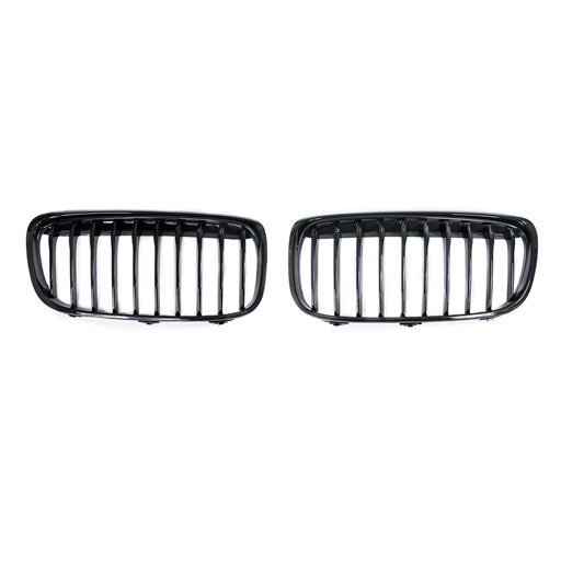 Single Slat+Shiny Black (OEM-Type) Front Grille for BMW F45 F46, ABS