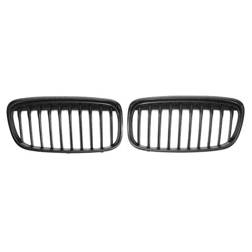 Single Slat+Matte Black (OEM-Type) Front Grille for BMW F45 F46, ABS