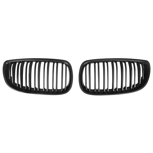 Double Slats+Matte Black Front Grille for BMW E92 E93 (2006~09), ABS