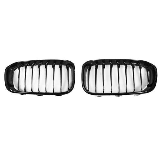 OE Look Glossy Black Kidney Grille For BMW F20 LCI