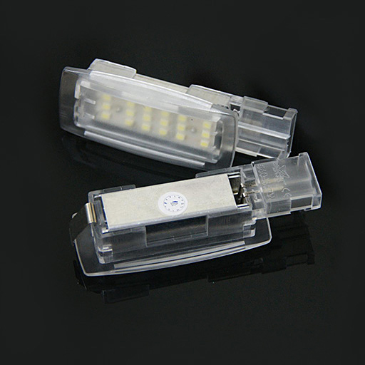 LED Interior Vanity Mirror Lights For Volkswagen Skoda Seat