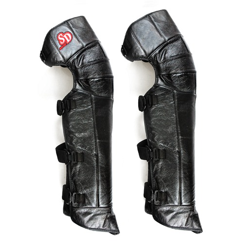 Black Motorcycle Leather Winter Knee Pad Windproof Leg Warmer Protector