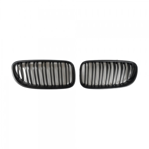 Double slats+Matte Black Front Grille for BMW E46-2D (1998~03)