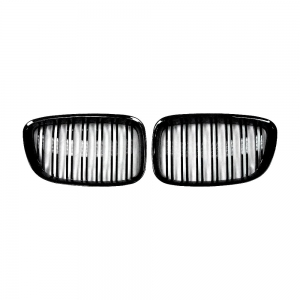 Double slats+Shiny Black Front Grille for BMW F07 (5GT)
