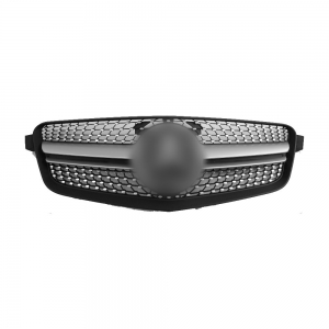 Front Grille for Benz W212 (Manso look) (2009~13), Silver