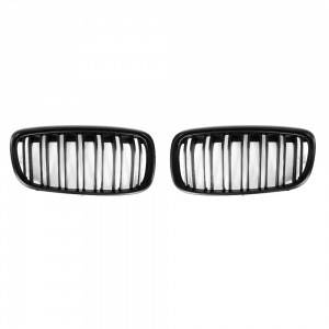 For BMW F45 M Double slats Matte Black Front Grille