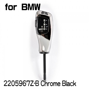 【none LED】Shift Knob for E60/E61. X5 E53 Facelifted (2004~06) . X3 E83/E83 LCI (2004~10), A/T, LHD, Chrome Black