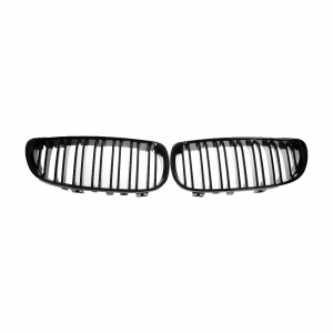 Double Slats+Shiny Black Front Grille for BMW E92 E93 (2006~09), ABS