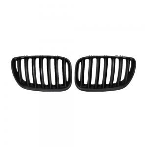 Single Slat+Shiny Black Front Grille for BMW X5(E53) (2006~), ABS