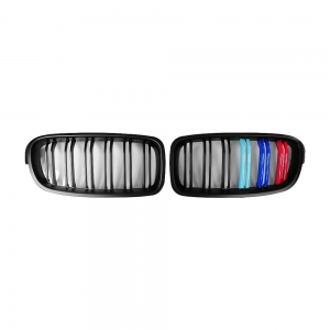 M3-Style Double Slats+Matte+Performance-Style Front Grille for BMW F30/F31/F35 (PreLCI、LCI)
