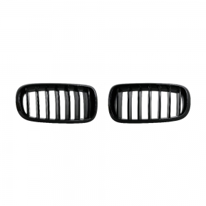 Single Slat+Shiny Black Front Grille for BMW X5(F15) X6(F16), ABS