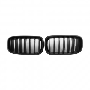 Single Slat+Matte Black Front Grille for BMW X5(F15) X6(F16), ABS