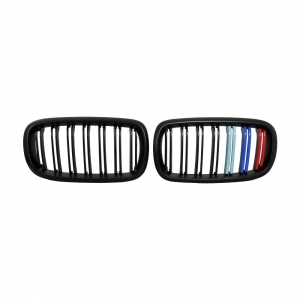 Double Slats+Matte Black+3color Front Grille for BMW X5(F15) X6(F16), ABS