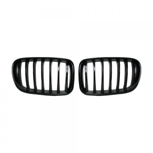 OE-Style Single Slat+Shiny Black Front Grille for BMW X3(F25) Pre-Lci, ABS