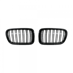 Double Slats+Shiny Black Front Grille for BMW X3(F25) Pre-Lci, ABS