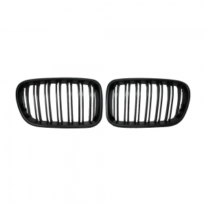 Double Slats+Matte Black Front Grille for BMW X3(F25) Pre-Lci, ABS