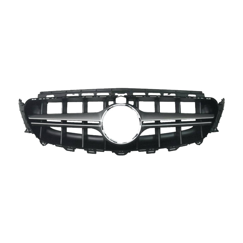 E63-AMG-Style (Silver) Front Grille For Benz W213 (2016), ABS