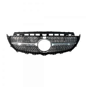 E43-AMG-Style (Star+Silver) Front Grille For Benz W213 (2016), ABS