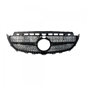E43-AMG-Style (Star+Shiny Black) Front Grille For Benz W213 (2016), ABS
