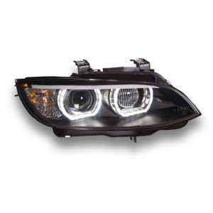 For BMW E92 pre-facelift 2006 2009 Angel Eyes DRL Headlight Assembly