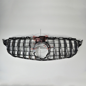For Merecedes W205 C CLASS 19年~ GT WO Camera Chrome Grill