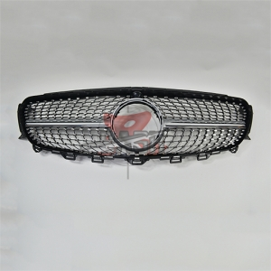 For Merecedes W213 E 16- Stars WO Camera Silver Grill