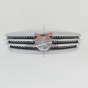 For Mercedes W211CL SHINY BLACK GRILLE 03-06 E ECLASS