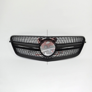For Mercedes W212(Manso LOOK) SHINY BLACK GRILLE  09-13  E CLASS