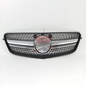 For Mercedes W212(Manso LOOK) MATTE SILVER GRILLE  09-13 E CLASS