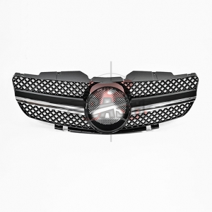 For Mercedes W230(SL 09Y LOOK) SHINY BLACK GRILLE 02-08 SL CLASS